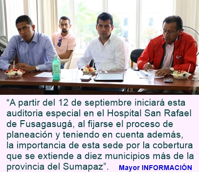Contraloría de Cundinamarca realizará auditoria especial al hospital San Rafael de Fusagasugá