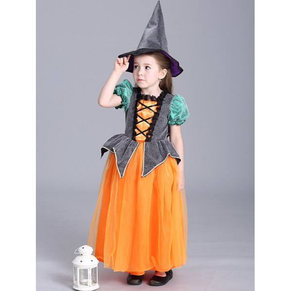 Halloween Christmas Princess Maxi Dress Pumpkin Dress