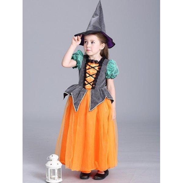 Halloween Christmas Princess Maxi Dress Pumpkin Dress