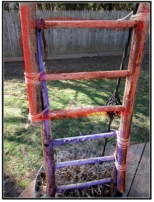 Old Broken Chair... Now a Ladder www.homeroad.net
