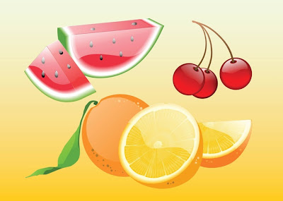 frutas vectores