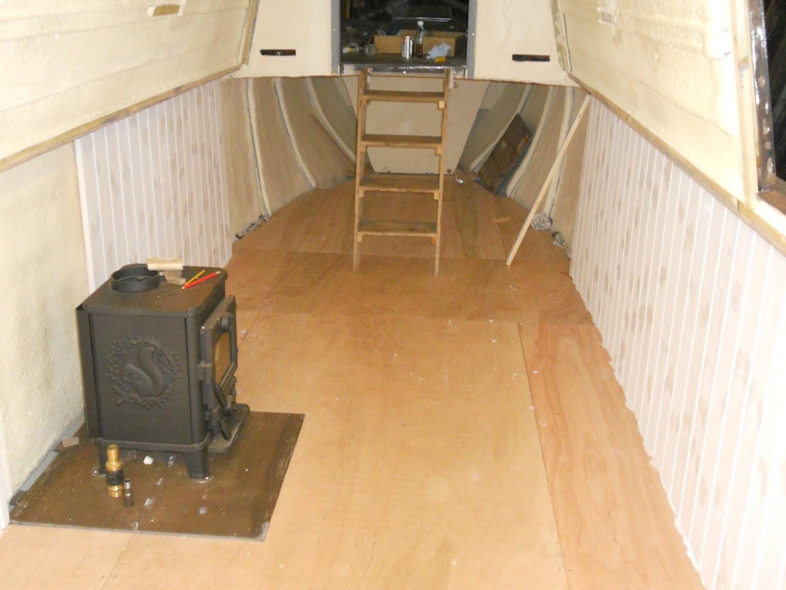 Harris Amp Watson Narrowboat Build Hull Lining Cable