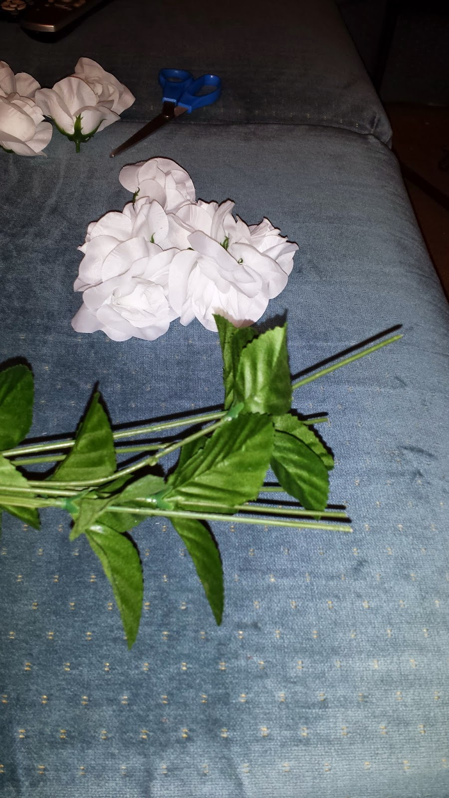 remove flowers from stems