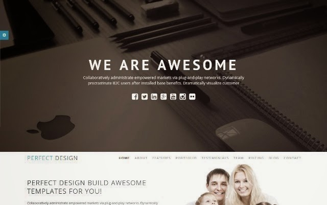 Perfect Design One Page portfolio HTML template