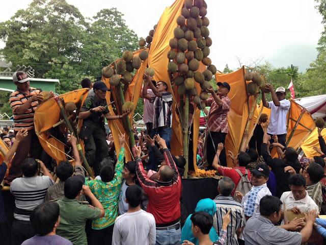 makan durian bersama sama, sumber agung, kemiling, bandar lampung, lampung,