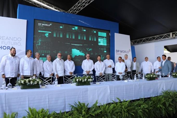 Ampliación Puerto DP World Caucedo generará 500 nuevos empleos. Danilo Medina asiste a inicio de trabajos