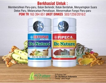 Obat Penghilang Lendir di Paru Paru Herbal de Nature Pipeca dan Detox Paru Herbal de Nature