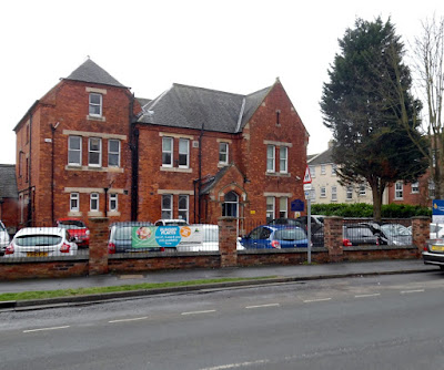 Demeter House School, Bigby Street, Brigg, February 2019, with tall tree nearby