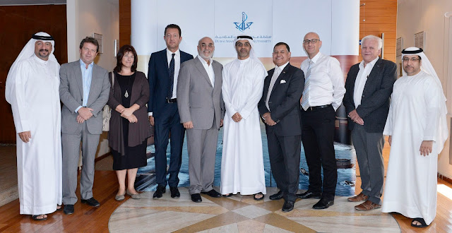 Image Photo of Amer Ali, Executive Director of DMCA with UAE delegation members that will participate in SMM Hamburg 2016