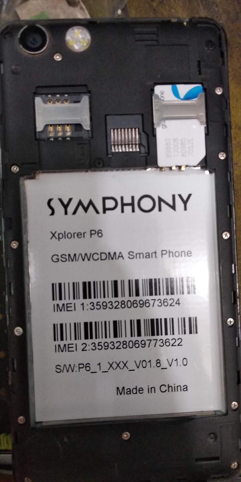 Symphony MT6582 P6__5 0 1GB FLASH FILE CM2 READ 100% tested