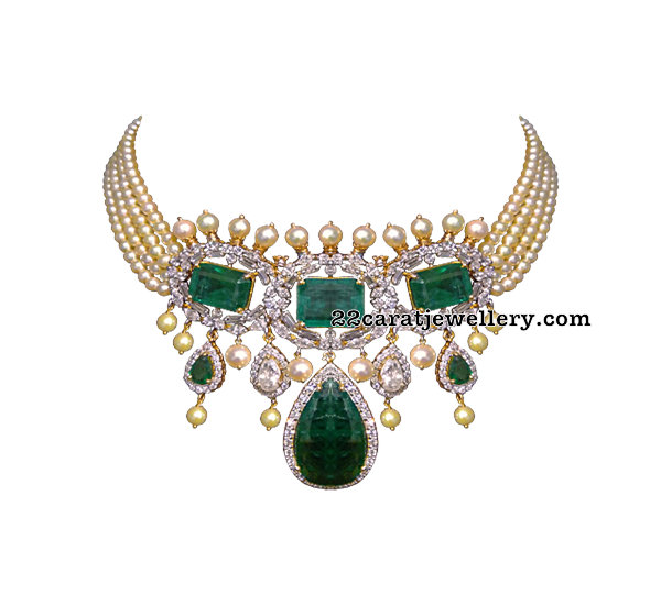 Choker from Vitaldas Zaveri Jewellers
