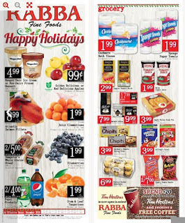 Rabba Fine Foods Happy Holidays December 15 - 21, 2018