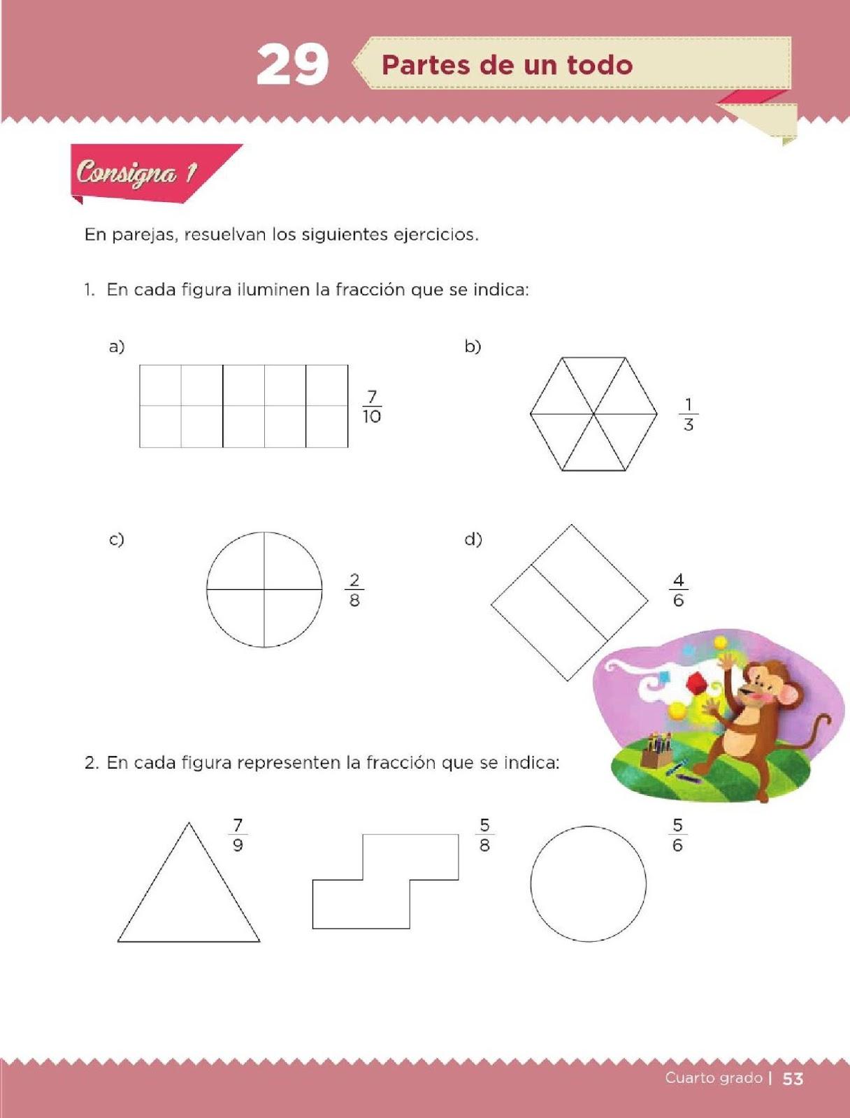 ... Matemáticos 4to. Grado Bloque II Lección 29 Partes de un todo