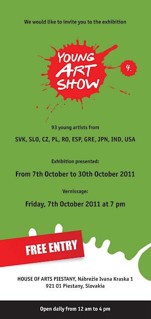 Young Art Show 4, exposición de arte moderno, invitación
