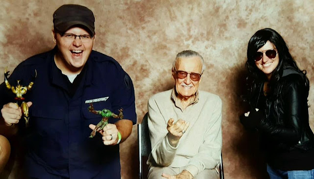 Chauncey and I with Stan Lee