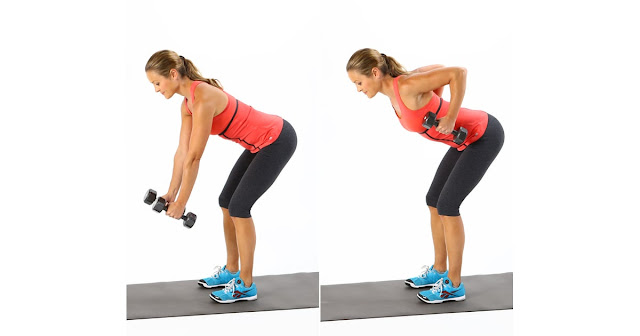 Reduce Back Fat Fast For Women- Bent Over Row