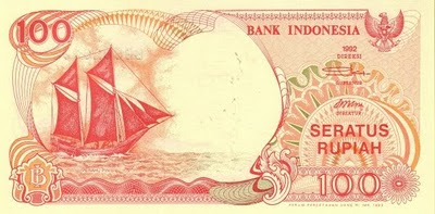 Rp100 tahun 1992