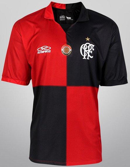 b0f5f67587 Flamengo veste camisa Papagaio de Vintém na preliminar dos 100 anos ...