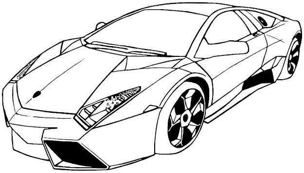Cool Race Car Coloring Pages Lamborghini  Coloringstar