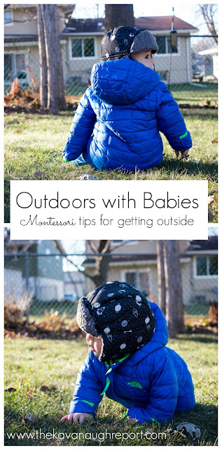 Outdoor exploration with your Montessori baby - tips for making outdoor exploration successful