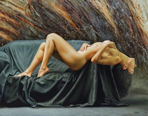 O Sonho - Omar Ortiz | Pintura Sensual Hiper-Realista  - Mexicano
