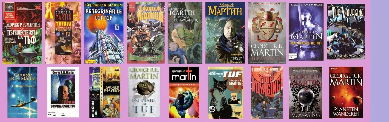 portadas de la novela compuesta de ciencia ficción Los viajes de Tuf, de George R. R. Martin