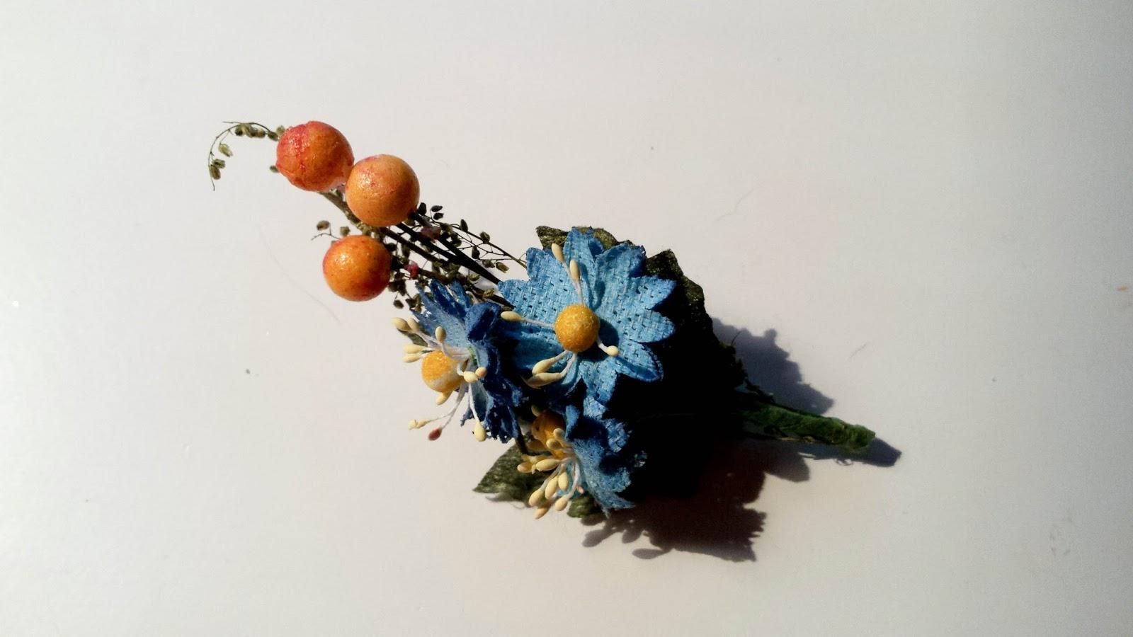 broche bouquet de fleurs