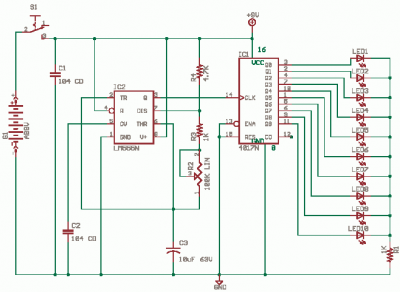 Running Led Diagram