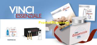 Logo ''Vinci l'essenziale'': raccogli i punti e richiedi premi sicuri + Promo Soddisfatti o Rimborsati