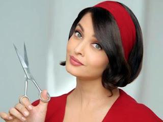 Aishwarya Rai With A Scissor