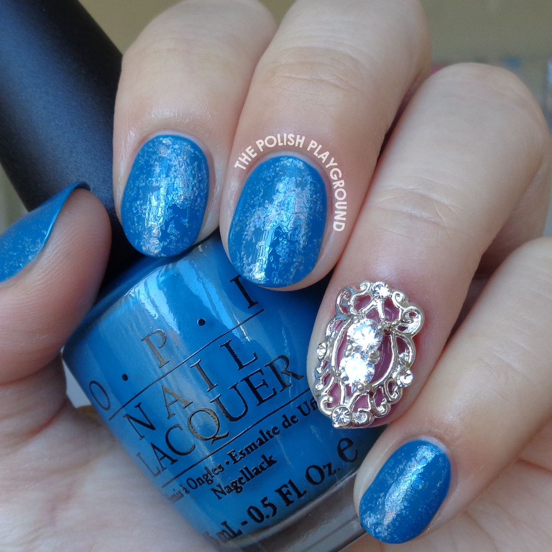 The Polish Playground: Blue With Holographic Nail Foil