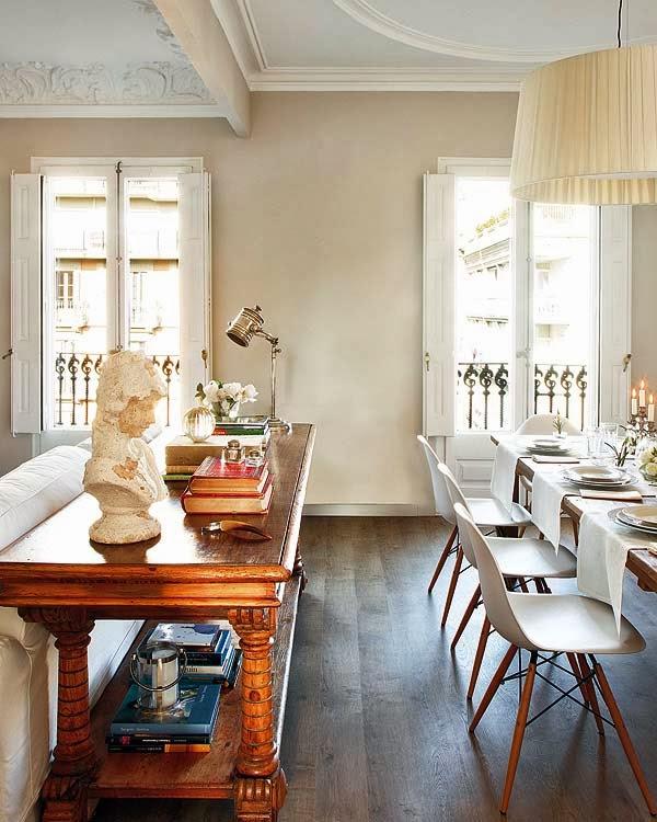 Un apartamento en barcelona decoraci n for Stanza da pranzo moderna