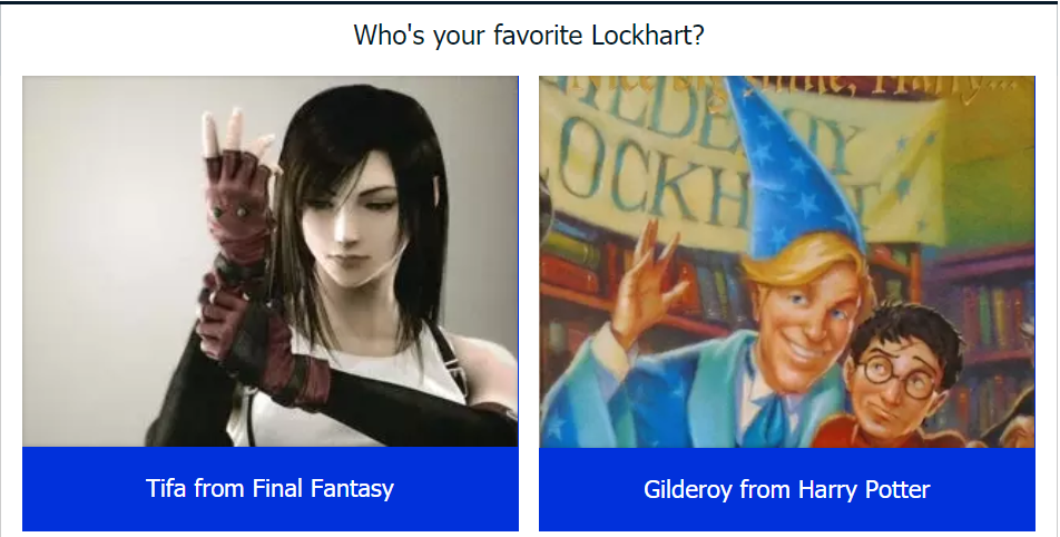 gilderoy lockhart, tifa lockhart, final fantasy, harry potter, books, movies, video games, rpg, role-playing games, j.k. rowling, Hironobu Sakaguchi, square enix