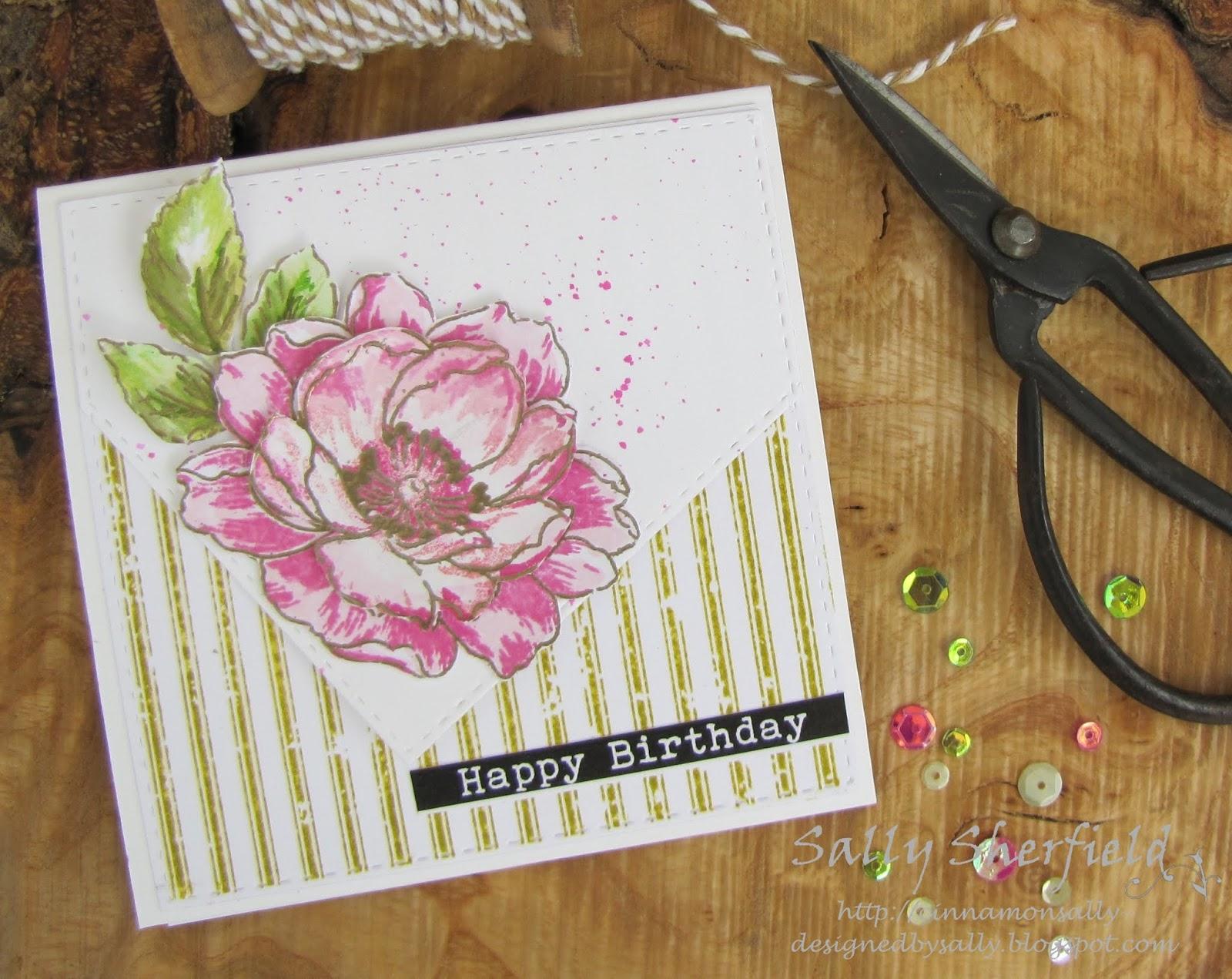 Cinnamon Sally Designs Flowery Birthday