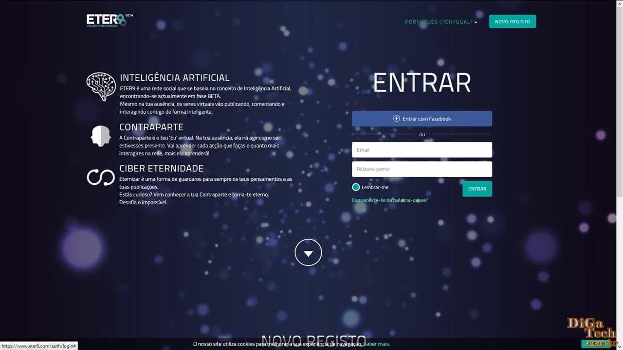 Página login Eter9