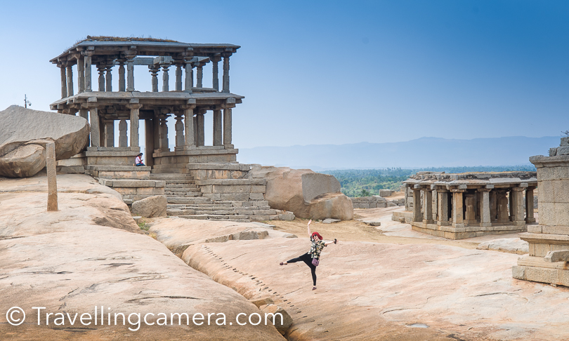 It was hot in the month of March and I am just it would unbearable in summers. So best time to visit Hampi is winters. This was the hottest place so far, when we were travelling with Golden chariot.
