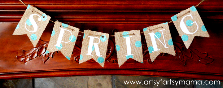 DIY Spring Banner from artsyfartsymama.com #Spring #banner #ExploreCricut