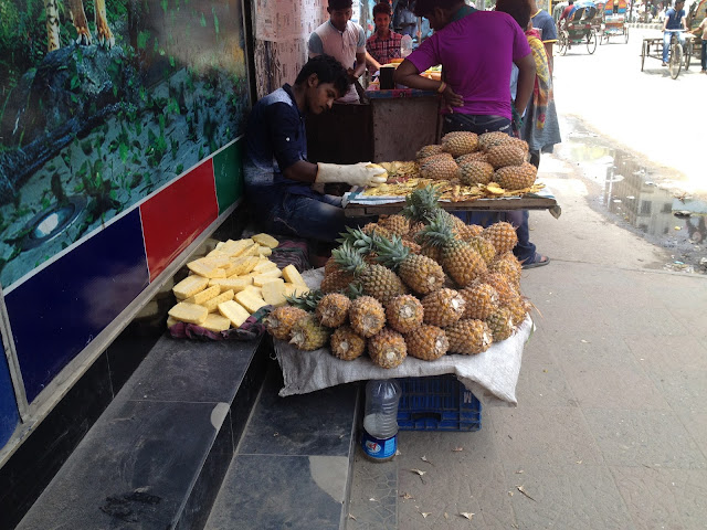 Pineapple shop in Dhaka street