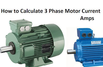 3 phase motor current calculation formula