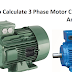3 Phase Motor Current Calculation Formula Explained