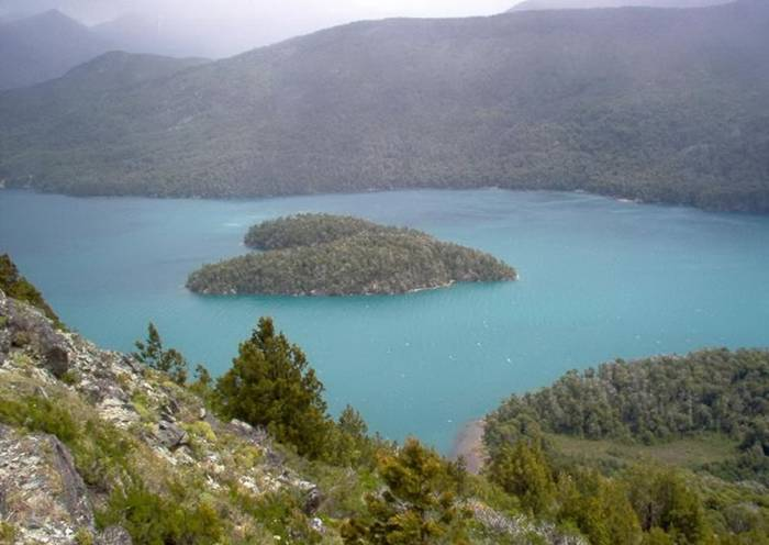 The Island on Lake Gutierrez, Patagonia, Argentina