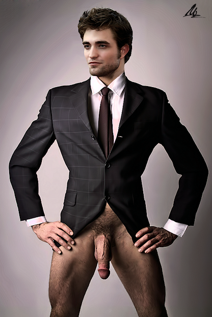 NSFW Robert Pattinson Business Suit