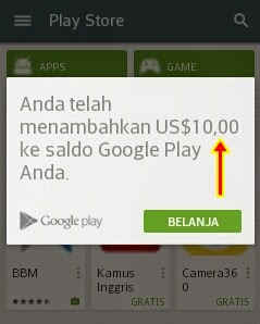 penukaran google play gift card