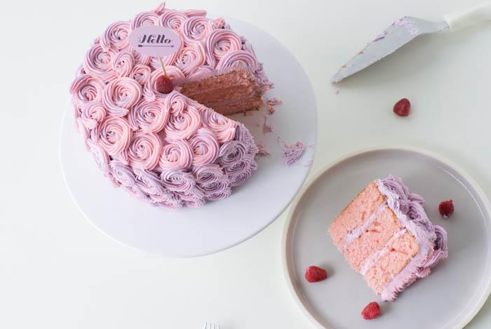 Rose Ercream Cake Tutorial For Poppytalk