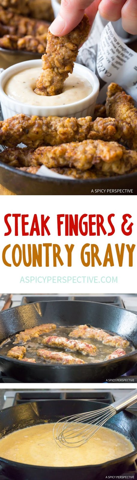 Steak Fingers with Country Gravy