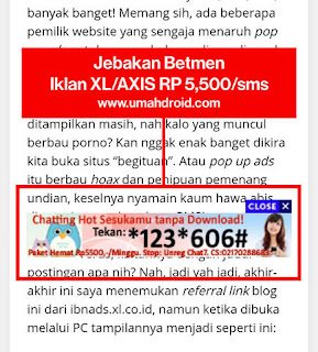 Menghapus ibnads XL di Android