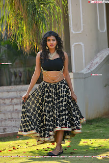 Hebah Patel in Spicy Black Choli and Ghagra HD Pics  033.jpg