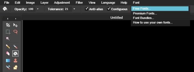 Cara Menggunakan Font Pada Pixlr Editor Online