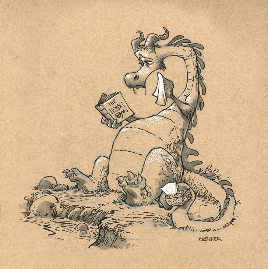 02-AAgar-the-Emotional-Brian-Kesinger-Drawings-that-Show-the-Kinder-Side-of-Dragons-www-designstack-co