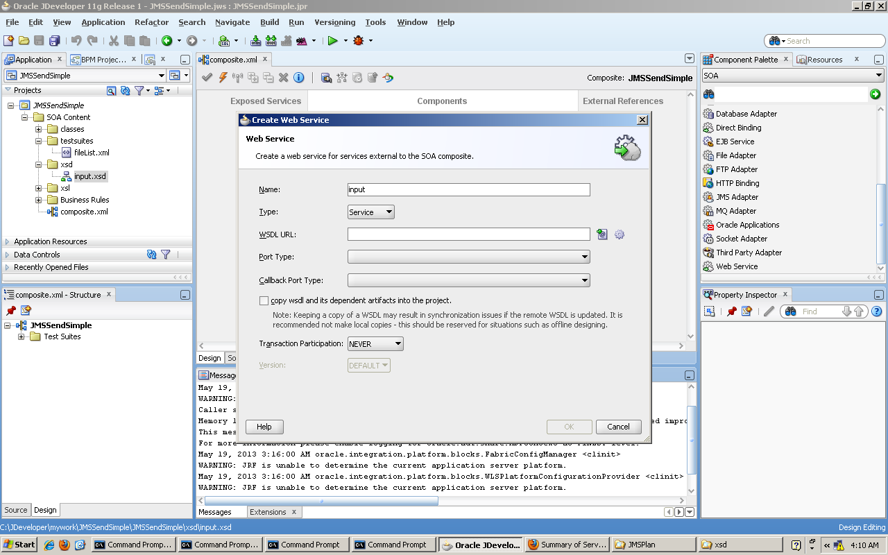 Nostra Technology: Pembuatan SOA Application (BPEL, JMS